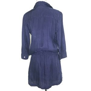 BB Dakota Dresses - BB Dakota Blue 3/4 Sleeve Tunic Dress A030495